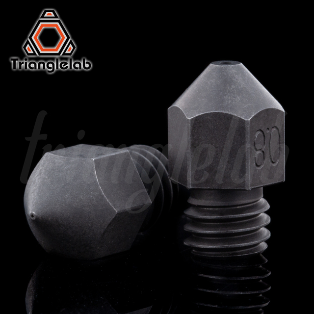 Trianglelab Swiss MK8 Hardened steel Nozzle high temperature m6 Thread 1.75MM Filament for 3D printers hotend  cr10  ender3 ETC.
