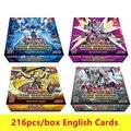 216 ピース/セット遊戯王ゲームカードアニメスタイルコレクションカードボックスキッズボーイズおもちゃ漫画トランプクリスマスギフト Cartas