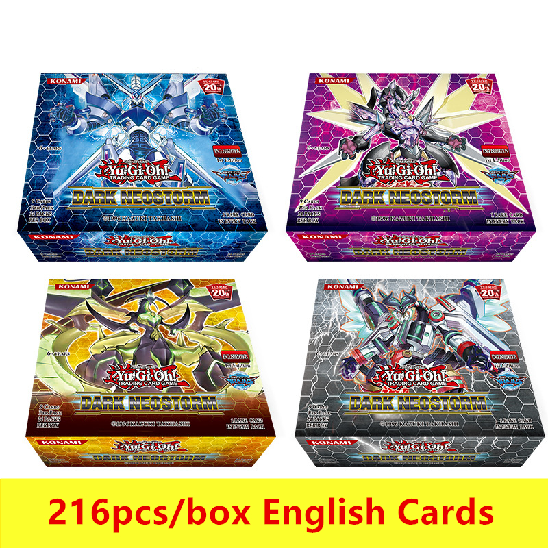 216 Cái/bộ Yu Gi Oh Thẻ Trò Chơi Phong Cách Anime Tập Thẻ Có Hộp Trẻ Em Bé Trai Hoạt Hình Chơi Bài Giáng Sinh quà Tặng Cartas