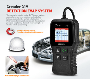 цена на Yuan Zheng X431 Creader 319  Barcode Reader Scanning Tool OBD2 CR319 Car Diagnostics Car OBD Code Reader OBD2 Scanner