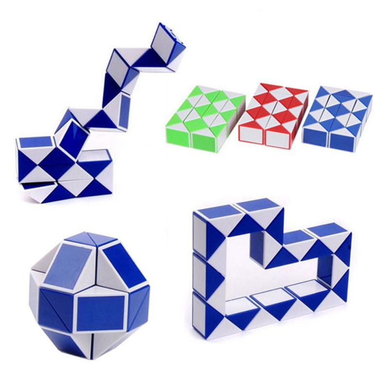 Mini Snake Speed Cubes Twist Puzzle Toys For Kids Party Bag Fillers Party Favours Colorful Educational Toy Free Shipping