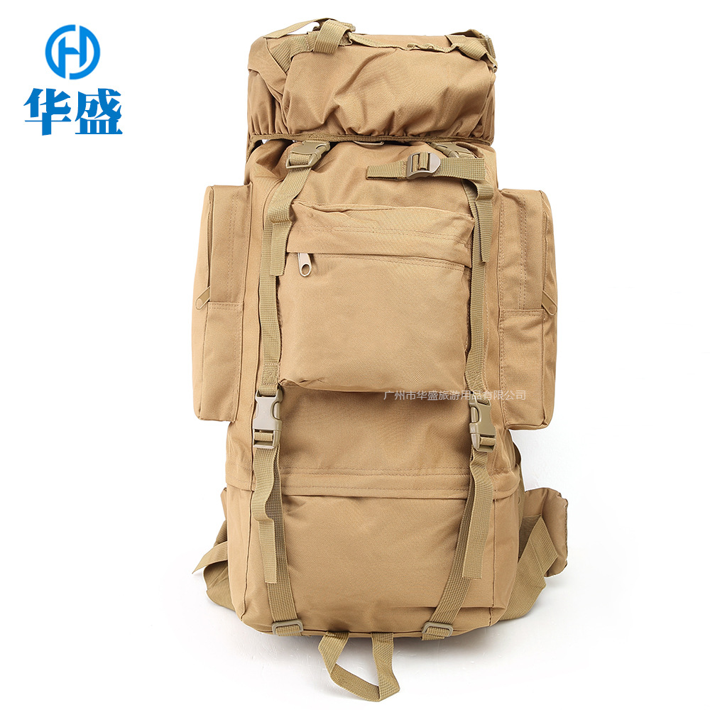 Cross Border For Outdoor Backpack Profession Hiking Mountain Climbing Backpack Large-Volume 65L Large Bag Equipment Currently Av