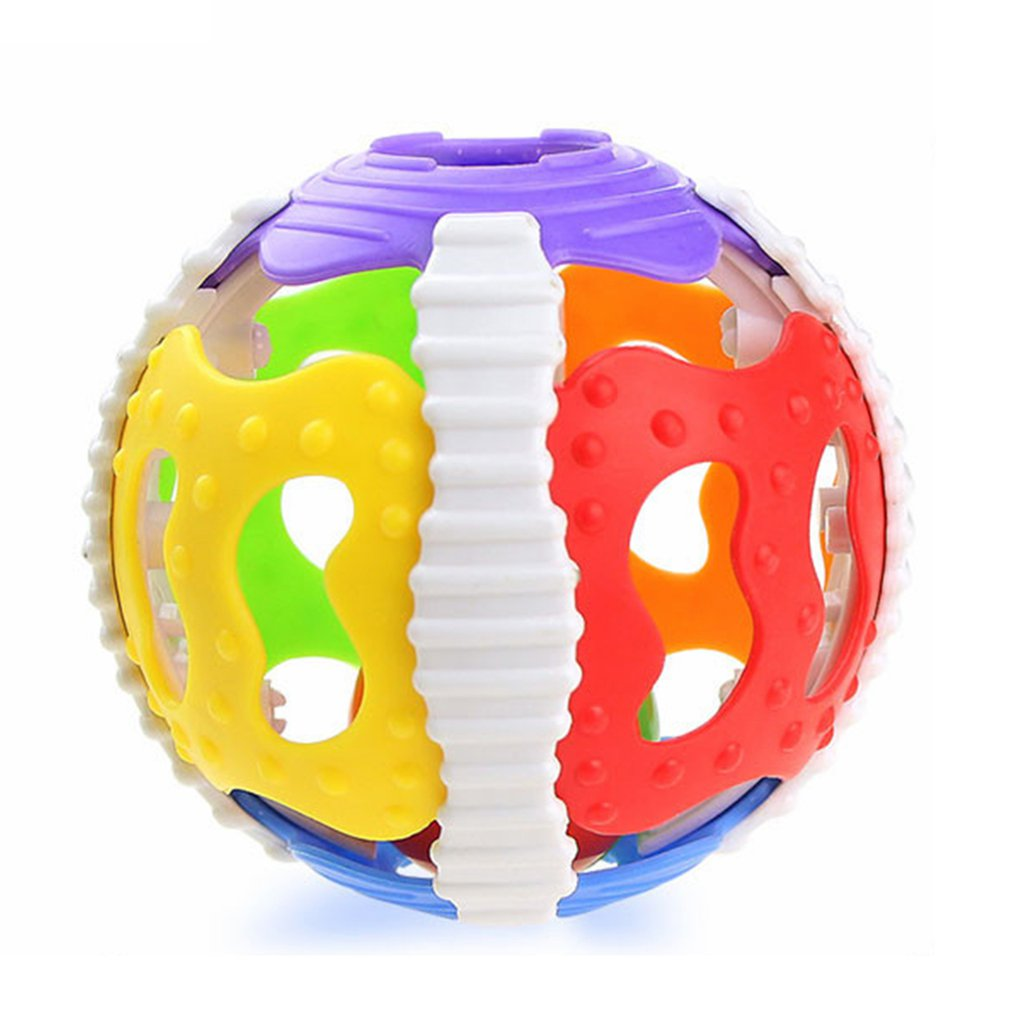 Baby Toy Fun Jingle Ball Soft Rubber 0-1Y Baby Rattles Little Loud Bell Ball Grasping Puzzle Toys