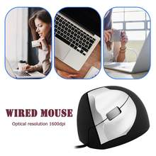 3 Buttons USB Wired Vertical Office Mouse for Desktop Laptop Office 1000 DPI Optical Mice for Windows/MAC(China)