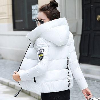 2020 nouveau hiver Parkas femmes veste à capuche épais chaud court veste coton rembourré Parka basique manteau vêtements de dessus pour femmes grande taille 5XL 1