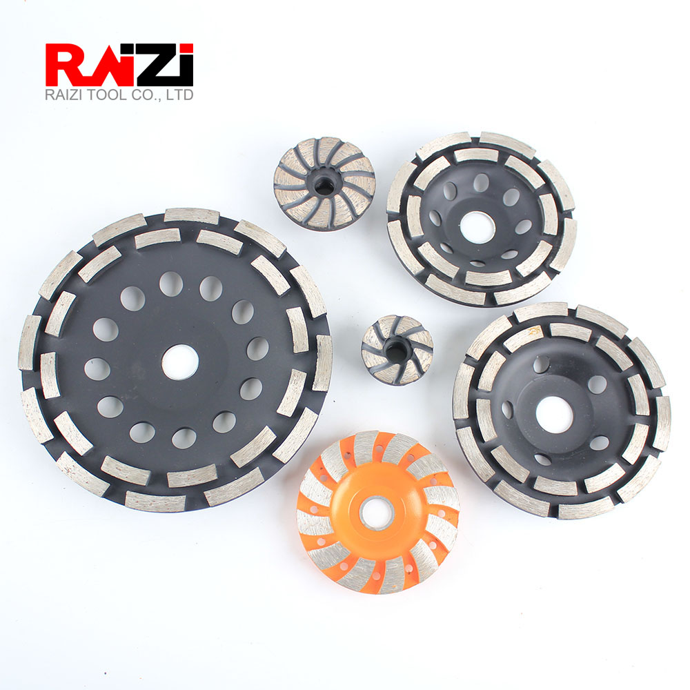 Raizi 40/60/90/115/125/180 Mm Diamond Grinding Cup Wheel Stone Concrete Grinding Disc For Angle Grinder