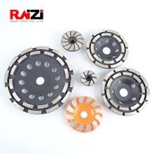 Алмазный шлифовальный станок Raizi 40/60/90/115/125/180 мм, каменный бетонный шлифовальный диск для угловой шлифовальной машины