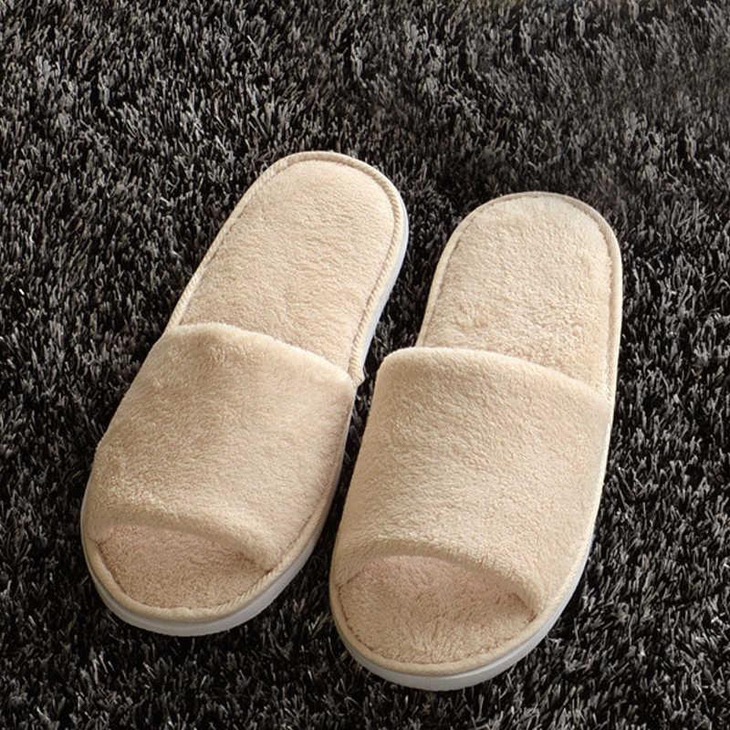 Mới Nữ Lông Dép Mùa Đông Giày Nhà Sàn Quai Dép Mềm Mại Sang Trọng Nữ Trong Nhà Ấm Lông Tơ Vải Cotton Thicked Lông Dép