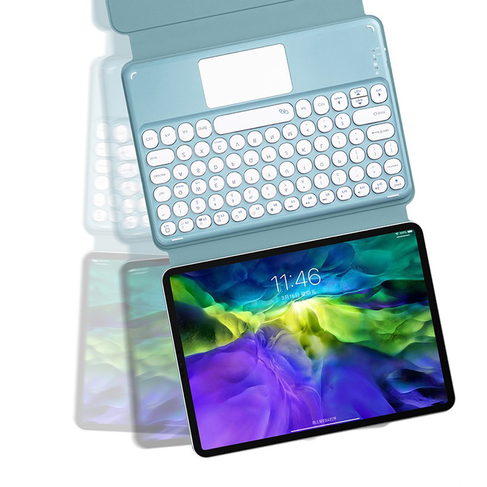 For iPad Pro 11 2021 2020 2018 A2301 A2459 A2460 Magnetic Case Keyboard Spanish Russian Korean
