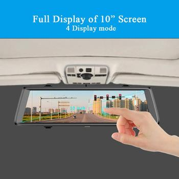 Streaming Media Driving Recorder New 10 Inch Full Screen Smart Rearview Mirror HD Telescopic Lens Dual Electronic Dog