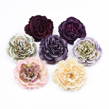 2/5/10 Pieces European Peony head wedding bridal accessories clearance scrapbooking flowers home decor artificial flowers cheap image