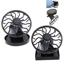 Solar Panel Powered Mini Portable Clip-On Cooling Fan For Travel Camping Fishing G8TC