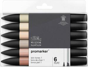 Image 3 - Winsor & Newton Promarkers Twin Tip Marker Pens 6 Colors & 12 Colors Blender Artist Brush Pen