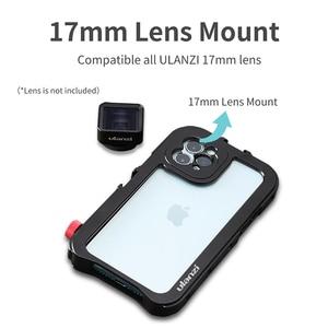 Image 2 - Ulanzi vlog金属ケースケージiphone 11ビデオ撮影記録vloggingケース17ミリメートル糸で1/4ネジ