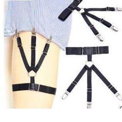Europa En Amerika Garter Shirt MEN'S Top Anti-Rimpel Anti-slip Shirt Clip Sexy Comfortabele O-Ring benen Ring Kousenband
