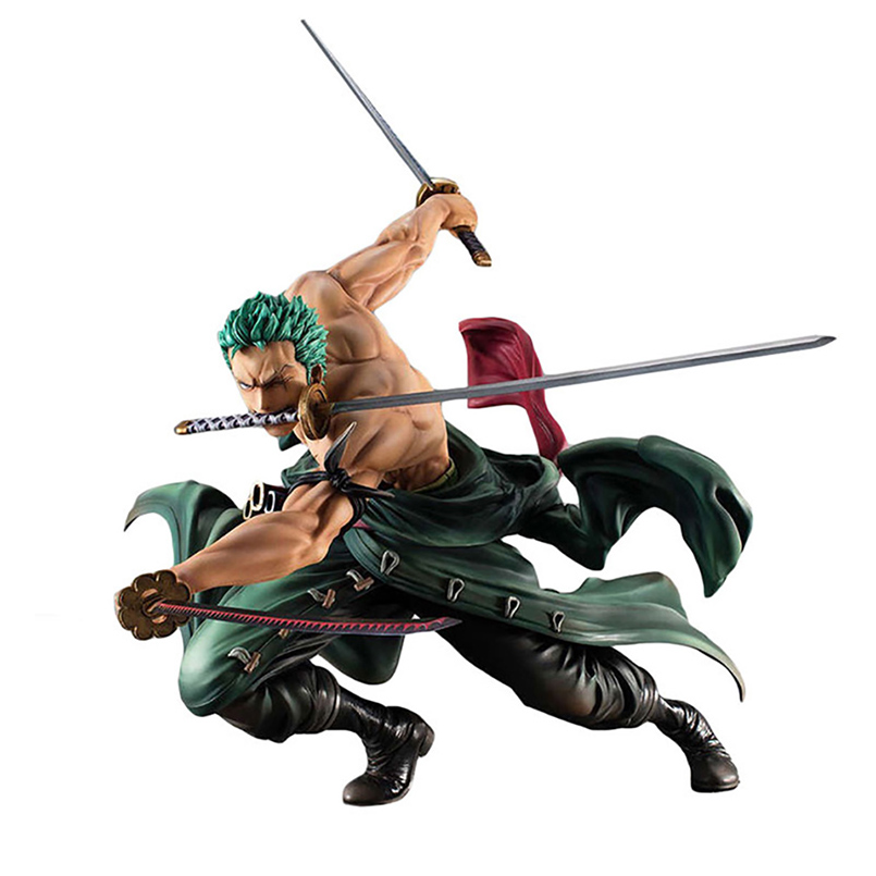 Anime One Piece 18cm Roronoa Zoro SA-MAXIMUM Ver. PVC Action Figure Toy Roronoa Zoro Figure Roronoa Zoro Collectible Model Toys