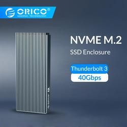 ORICO Thunderbolt 3 NVME M.2 SSD Enclosure Suport 40Gbps 2TB Aluminum USB C with Thunderbolt 3 C to C Cable For Laptop Desktop