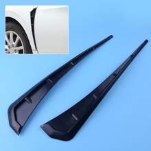 DWCX 2pcs Black ABS Type R Side Fender Vent Air Wing Cover Trim Mouldings Styling Fit For Honda Civic 2016 2017 2018