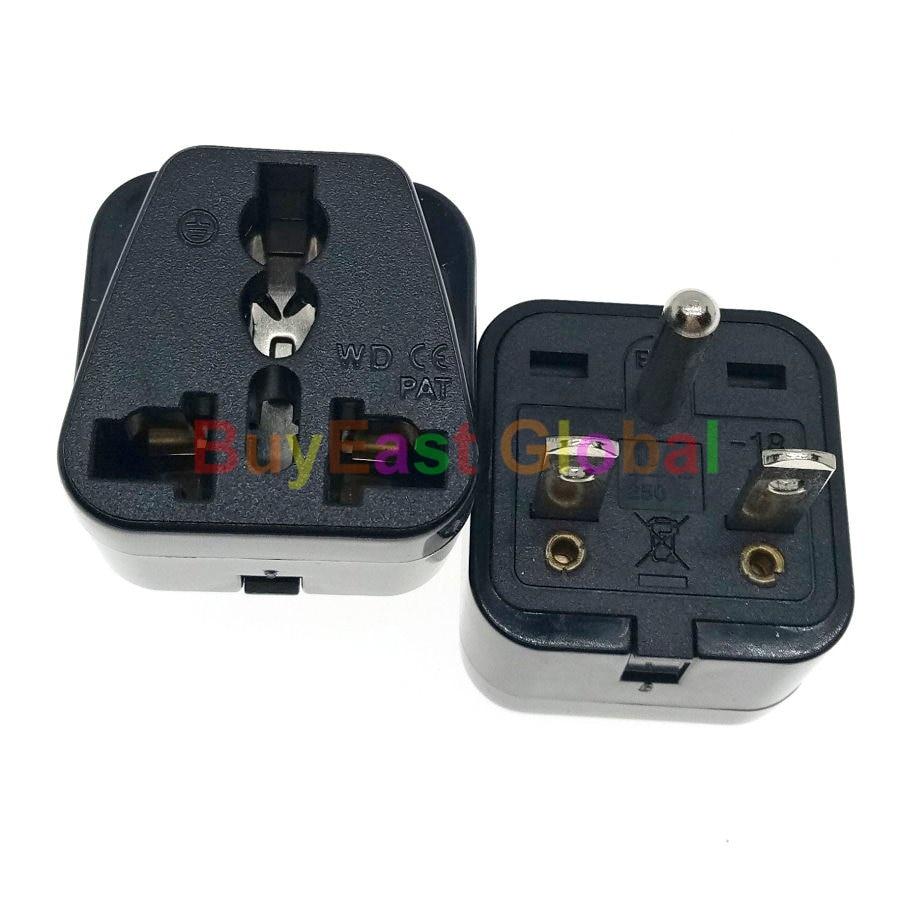 208//220//230//240 Volt Black NEMA 6-15P Universal Plug Adapter 15 Amps Max