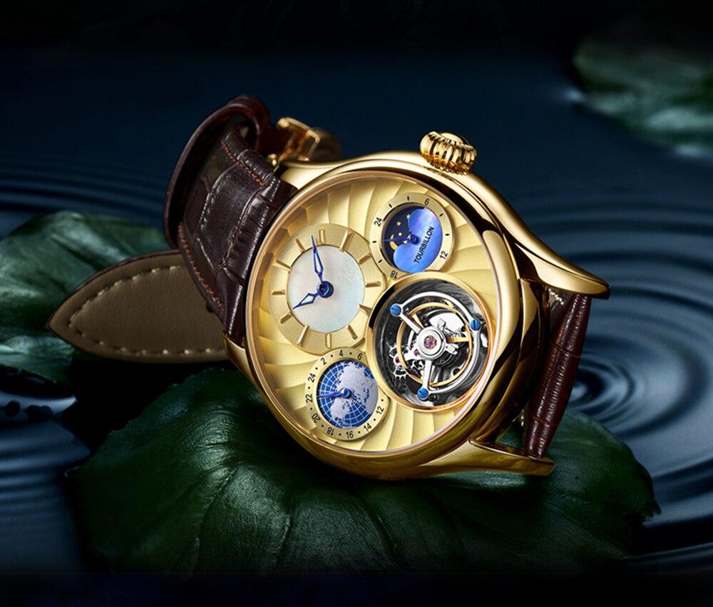 Original Tourbillon watch GUANQIN 2019 NEW clock men waterproof mechanical Sapphire leather top brand luxury Relogio Masculino 16