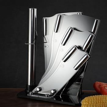 Fan shaped sub seven piece set of acrylic knife holder vegetable knife holder plexiglass knife holder household knife kitchen