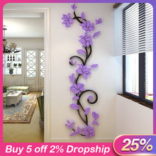 3D flower Wall Stickers for kids rooms decals Living Room Bedroom TV Background Home decor