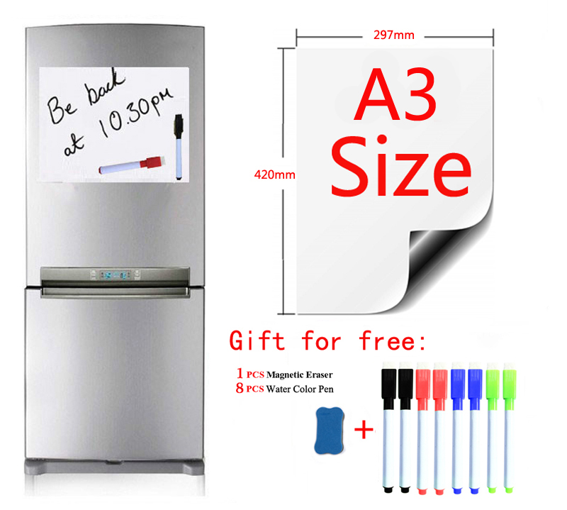 White Board Fridge Magnets Wall Stickers Magnetic Whiteboard For Kids Home Office Dry-erase Board School White Boards