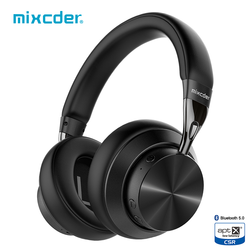 Mixcder E10 Upgraded aptX Low Latency Wireless Bluetooth Headphones 5.0 Aeronautical Metal Foldable Bass Bluetooth Headset