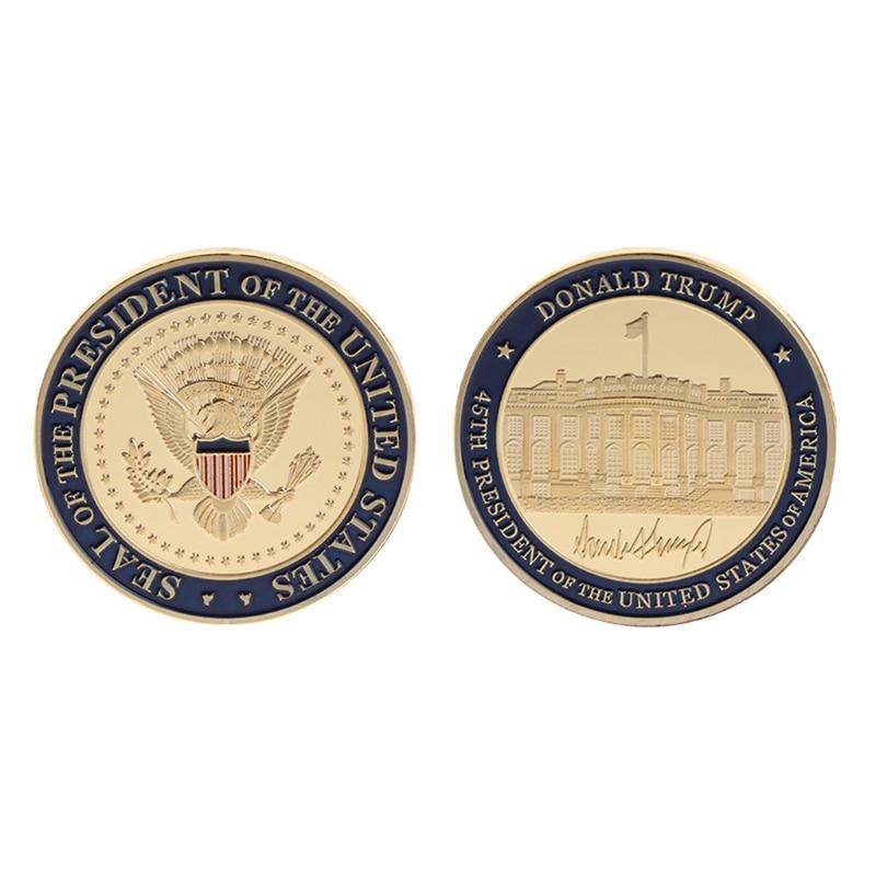 Невалютная монета, высококачественная коллекционная памятная монета, 45-й президент США Дональд Трамп, художественные подарки для коллекци...