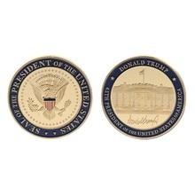Moeda não moeda de alta qualidade coleção moeda comemorativa eua 45th presidente donald trump coleção artes presentes lembrança