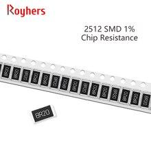 100Pcs 2512 Kit SMD Resistor 1% Tolerância 0R-392R 7.5R 8.2R 9.1R 10R 11R 12R 13R 10 Ohm Componentes Eletrônicos DIY Assorted Set