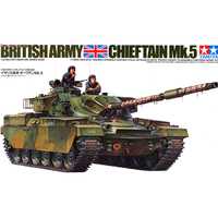 Tamiya 35068 Chariot Military Tank Model Building Kits 1/35 Scale British Chieftain Mk.5 Assembly Toys For Kids Children & Adult