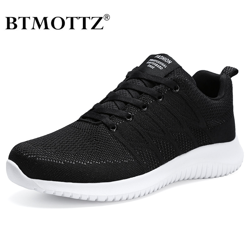 Mesh Men Sneakers Casual Shoes Lace-up Men Shoes Lightweight Comfortable Breathable Walking Sneakers Zapatillas Hombre Plus Size