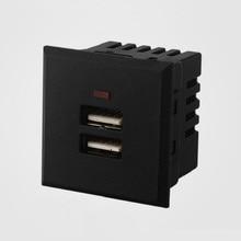 Ổ Cắm Đa Năng Thẻ Nhúng USB Để Bàn Ổ Cắm Điện 2 Cổng USB 2.1A AC Sạc Ổ Cắm Tường Bảng Điều Khiển Ổ Cắm Điện Module Ổ Cắm