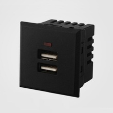 Universal Socket Card embedded USB desktop power socket Dual USB 2.1A AC Charge Socket Wall panel  power socket module outlet