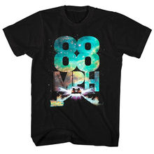 Back To The Future 88mph Galactic Speed Men's T Shirt Movie McFly Delorean Black Top Quality Tee Tshirt(China)