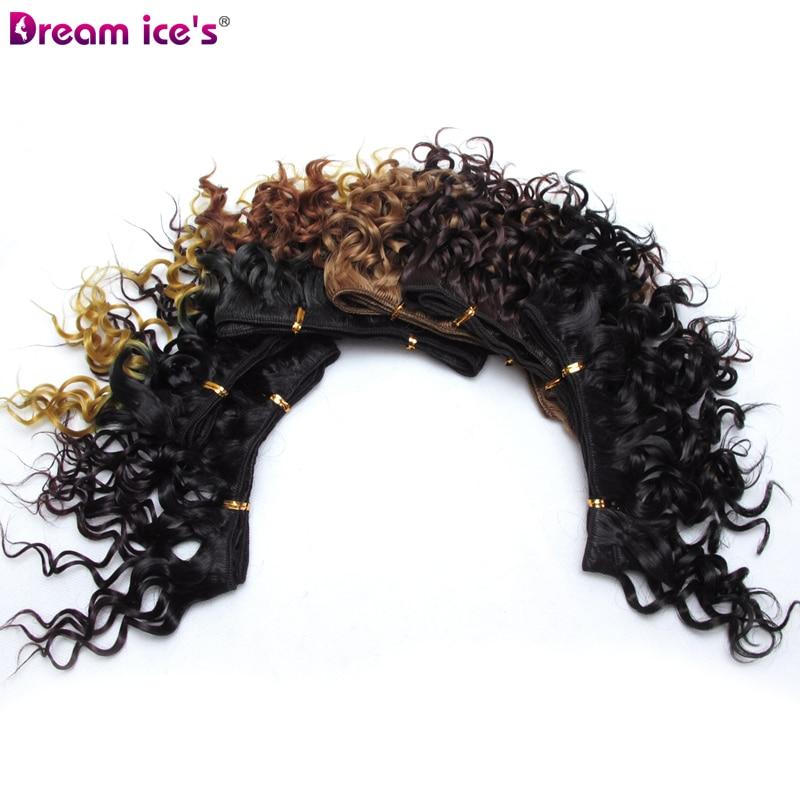 Extensões de cabelo sintéticas naturais para mulheres