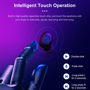 Image 5 - Tiso i6 dual mode wireless earphones touch control seamless Bluetooth 5.0 headphone noise cancelling Mic 3D TWS stereo headset