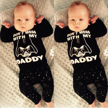 Pudcoco 0-24M Newborn Baby Boys 2pcs Clothes Set Star Wars Printed Tops T-shirt+