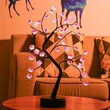 Lampa drzewna Led ciepła jasna lampa wiśniowa lampa miedziana mała lampa biurkowa festiwal ozdoba choinkowa tanie tanio ICOCO CN (pochodzenie) Łóżko pokój Jasne Brak Szkło Pokrętło przełącznika ART DECO Galwanicznie Black Shadeless
