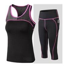 2021 yeni kadın Yoga seti hızlı kuru 2 parça takım elbise kadın açık spor spor takım elbise artı boyutu spor egzersiz kadın