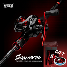 Kingdom SHADOW-TIP Baitcasting Rod Combo Fishing rods New 2.1m 2.4m two Top Tip 2 Section Carbon Fiber Rod Bait Casting reel Set