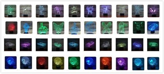 luz delineascope 7 cor remoto dropship