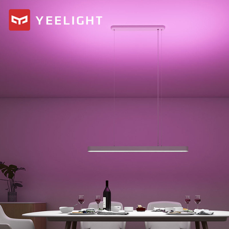 Yeelight inteligente led pingente lâmpada jantar luzes suporte app controle remoto colorido atmosfera para sala de jantar restaurante