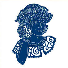 Buy Human Figure Lady Girl Women Metal Cutting Dies for Scrapbooking New 2019 Craft Dies Embossing Dies Cuts Card Making Stencils directly from merchant!