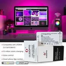 GLEDOPTO ZIGBEE bağlantı ışık zll RGB + CCT led şerit denetleyicisi rgbcct dc12 24v uyumluluk aleax artı le ve birçok ağ geçitleri