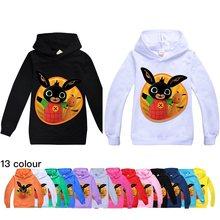 Bing coelhos meninos moletom com capuz meninas moda casual moletom com capuz outono boutique vestir crianças roupas de inverno