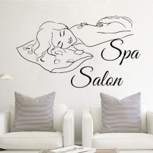 Beauty Girl Spa Salon Room Decoration Vinyl Art Wall Sticker Murals Poster Decals W725