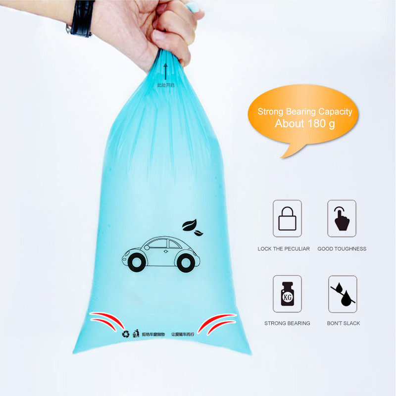 5pcs Car Trash Can Biodegradable Environmentally Self-Adhesive Auto Seat Back Hanging Trash Storage Bag Disposable Car Accessory