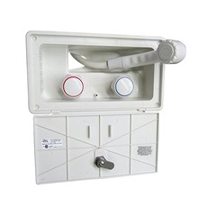 RV Exterior Shower Box with Lock-Includes Shower Faucet, Shower Hose, Shower Wand for Boat/Camper Motorhome/Caravan Accessories(China)